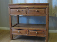 Pine Console Cabinet or Dressing Table with drawers