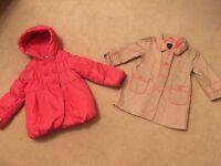 Girls Coats - size 2-3 years