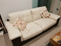 DFS All Leather 4-Seater Sofa