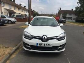 White Renault Megane 1.5 dci 2014