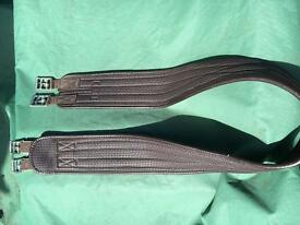 Brown leather girth 60""