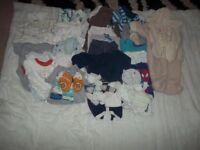Bundle of baby clothes newborn to 3 months