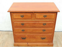 Satinwood chest of drawers dovetail (Delivery)