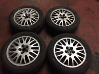 Vw golf or Audi 5 stud alloy wheels and tyres