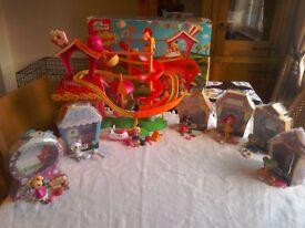 Mini Lalaloopsy large Bundle -Mini Funhouse plus 6 play sets