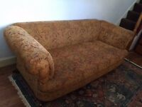 VINTAGE TAPESTRY FABRIC SOFA, SEATS 3-4. OFFERS ACCEPTED. COLLECTION ONLY