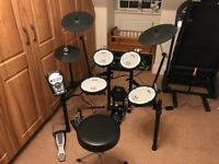 Roland TD-11KV V-compact drum kit inc. free double pedal and stool. Brilliant condition.