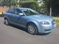 AUDI A3 2.0 TDI SPORTBACK 5 DOOR - 2008 - DIESEL. 5 DOOR. 180BHP. HPI CLEAR. MAY PART EXCHANGE!