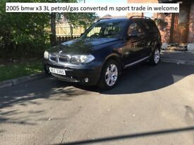 2005 bmw 3l m sport petrol/ GAS CONVERTED , trade in welcome