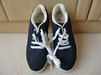 Navy Blue Cavas Shoes