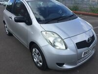 07 TOYOTA YARIS 1 LITRE PETROL 3 DOOR HATCHBACK MOT 23/10/17 MILEAGE 83214 GREAT 1ST OR FAMILY CARD
