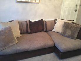 Corner sofa and snuggle chair
