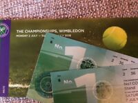 Wimbledon Court 1 Tickets x2 - Saturday 7th July 2018!