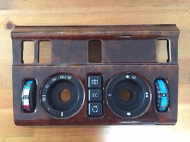 Original W124 Heater Center Console With AC Dials