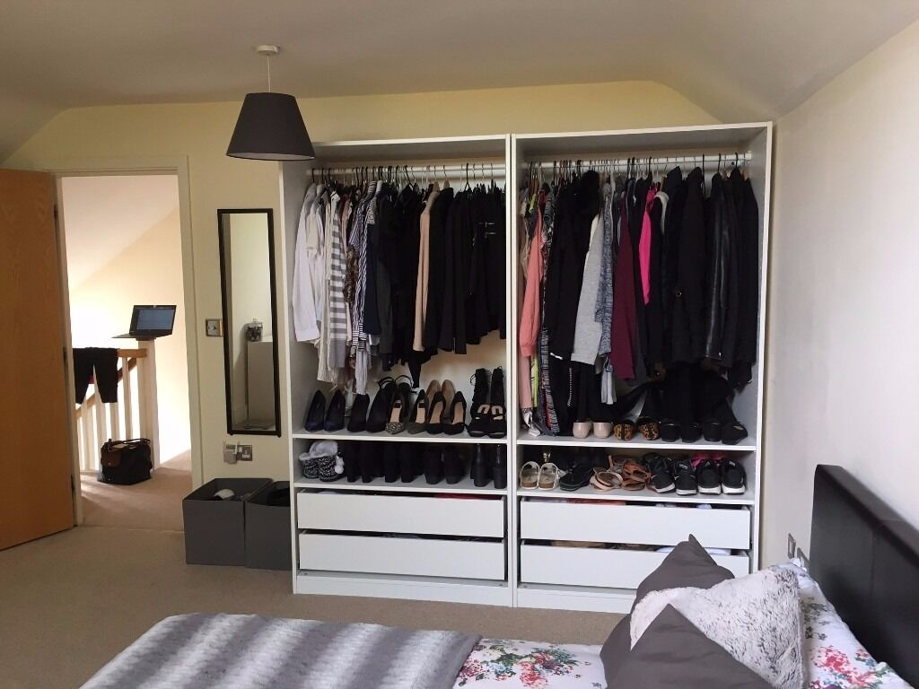 IKEA PAX White Wardrobe with Sliding Doors - Excellent Condition!