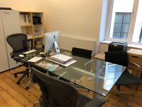 FREE LARGE GLASS OFFICE TABLE COLLECTION ONLY