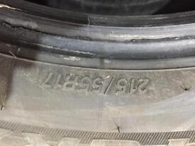 Bridgestone 215 55 R17 Tyres (VW Beetle)