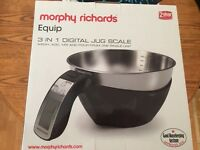 Morphy Richards 3in1 digital jug scales! Bought brand new for £25 but never used Selling for £10!