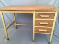 Abbess style teachers desk oak (?) retro vintage desk