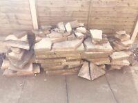 FREE Broken concrete slabs