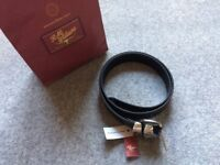 New black leather R.M.Williams men's belt