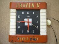 "Craven ""A"" wall clock"
