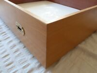 Hand-Crafted Solid Wood Under-Bed Storage Drawer (Wheeled)