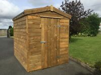 New 18mm 8x6 Wooden Garden Shed