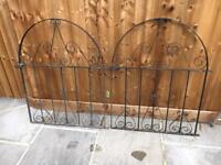 Metal garden gates.