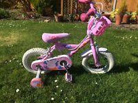 """Peppa Pig bike - 12"""" with helmet"""