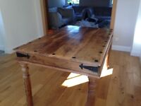 Sheesam wood table and 4 chairs in good condition