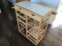 Argos HOME Pine Tile Top Kitchen Trolley [Hardly Used]