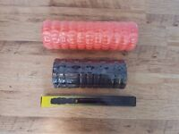 NEW 2x Foam Rollers 1x Muscle Roller Stick