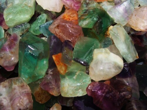 2000 Carat Lots of Unsearched Natural Fluorite Rough + a FREE faceted gemstone