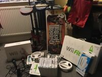 Wii plus Wii Fit, , Guitar Hero and other games
