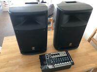 PA system Yamaha Stagepas 500 + cables + mixer +speaker stands. Excellent condition.
