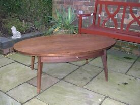 A large oval shaped coffee table made for John Lewis.