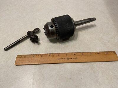 Vintage Jacobs Drill Chuck No.36 Cap 316-34 With No. 4 Key