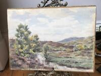 Watercolour Landscape Highland Scene