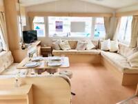 Large 3 Bedroom static caravan sited next to the beach in norfolk. nr hunstanton, wells.indoor pool