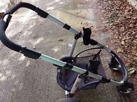 Pushchair base for travel system with Maxi Cosi adaptors already fitted