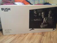 """BRAND NEW 40"""" BUSH LED TV. Sealed in box."""