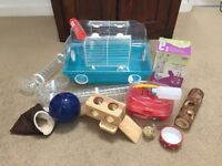 Small Hamster cage and kit. Ideal for Syrian / Russian smaller hamsters