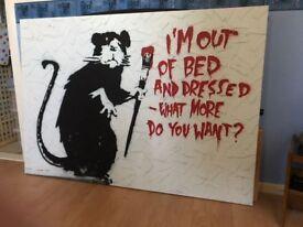 Banksy Rat Canvas (100cm x 142cm)