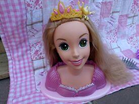 Rapunzel hair styling head