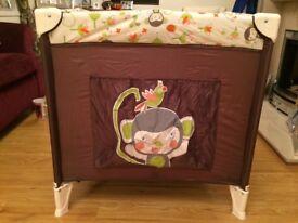 kiddi couture travel cot & mattress