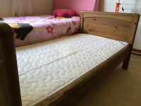 Mammas and papas cot/bed with mattress
