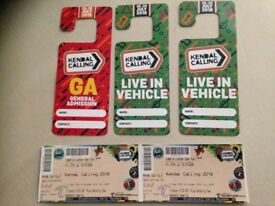 Kendal Calling 2018 package. Live in Vehicle x 2. Adult weekend + Thursday early entry x2
