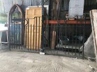 10 foot opening metal entrance gates