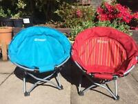 Outwell kids camping foldable chairs